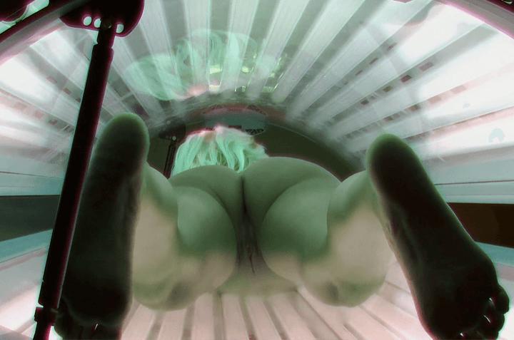 Versautes Arschfoto heimlich aufgenommen im Spanner Solarium